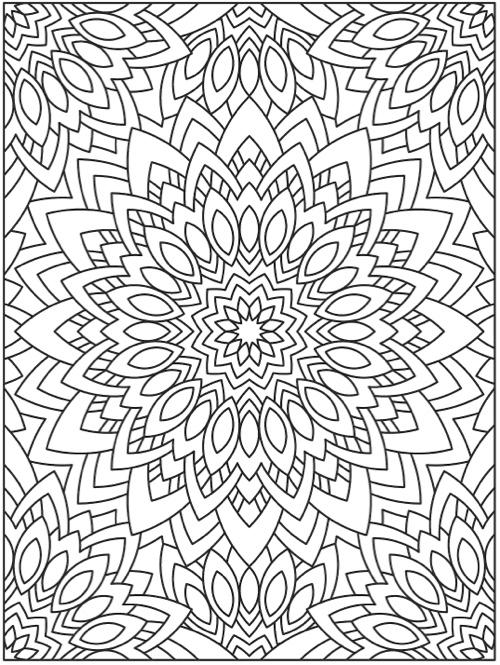 Creative coloring mandala expressions