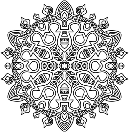 The Mandala Coloring Book