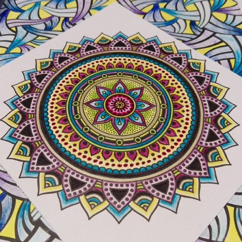 mandala coloring instagram example 4