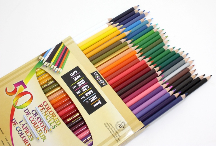 Sargent pencils are a decent cheaper brand that's great for sharing at coloring night!