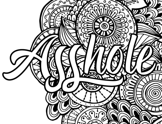 Merveilleux Sweary Coloring Book: Swear Words Relaxation For Adults With Mandalas U0026  Paisley Designs