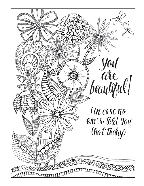 Happy Mothers Day Adult Coloring Pages