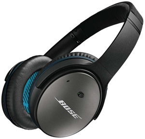 Bose QuietComfort 25 Headphones -- these things have incredible noise cancellation!
