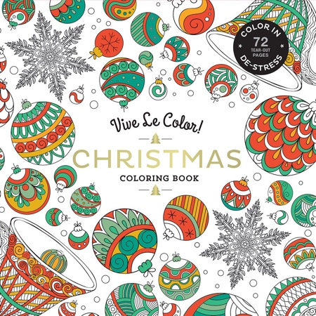Vive Le Color! Christmas Adult Coloring Book