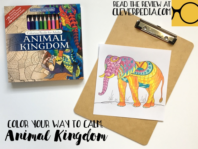 Page From Color Your Way To Calm Animal Kingdom Colored By Adrienne At Cleverpedia Using