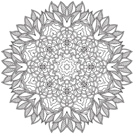 Color Your Way to Calm: Mandalas (Colored Pencils + Sharpener Included)