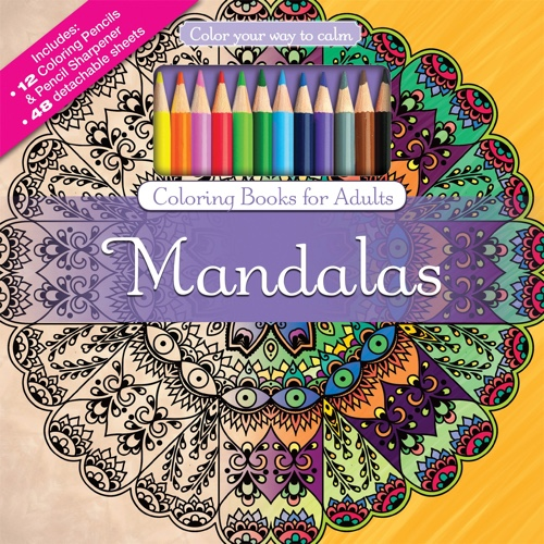 Color Your Way To Calm Mandalas Colored Pencils Sharpener Included