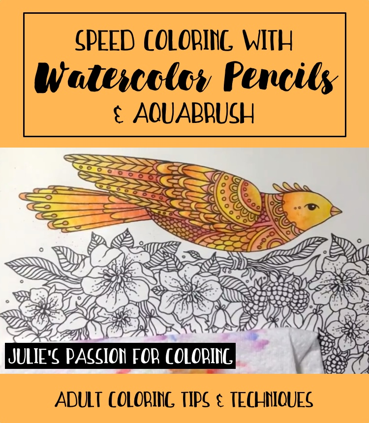 Speed Coloring With Watercolor Pencils And A Waterbrush
