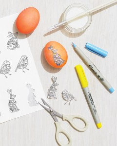 Crafty Ways to Use Your Coloring Pages: DIY Easter eggs decorated with coloring pages!