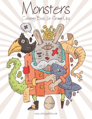 Monsters Coloring Book for Grown-Ups