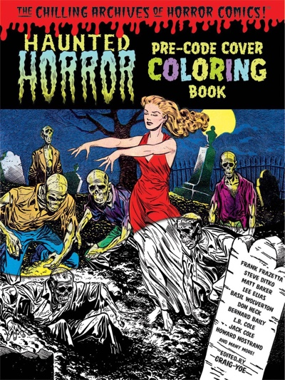 Haunted Horror Pre-Code Cover Coloring Book