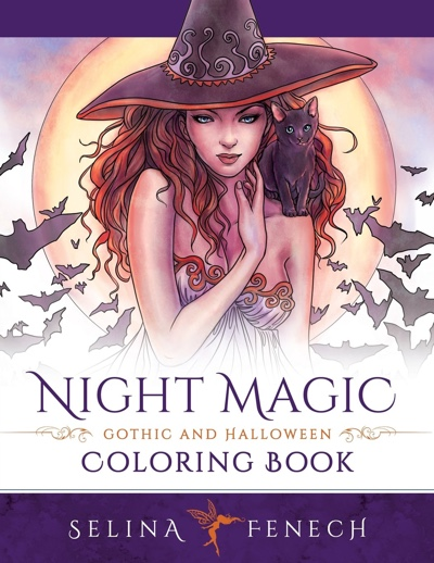 Night Magic: Gothic and Halloween Coloring Book (Fantasy Coloring by Selina)