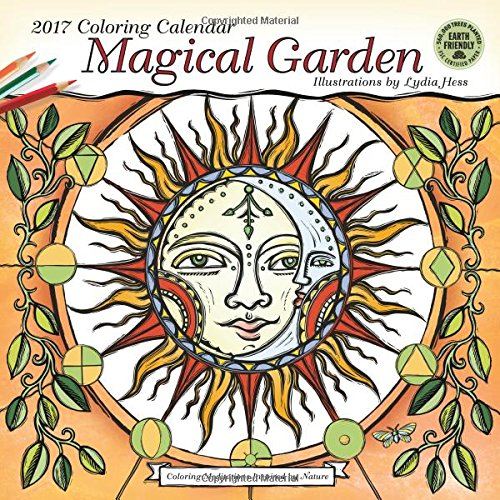 Magical Garden 2017 Coloring Wall Calendar