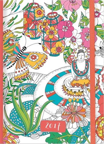 2017 Zen Garden Weekly Planner (16-month Adult Coloring Calendar)