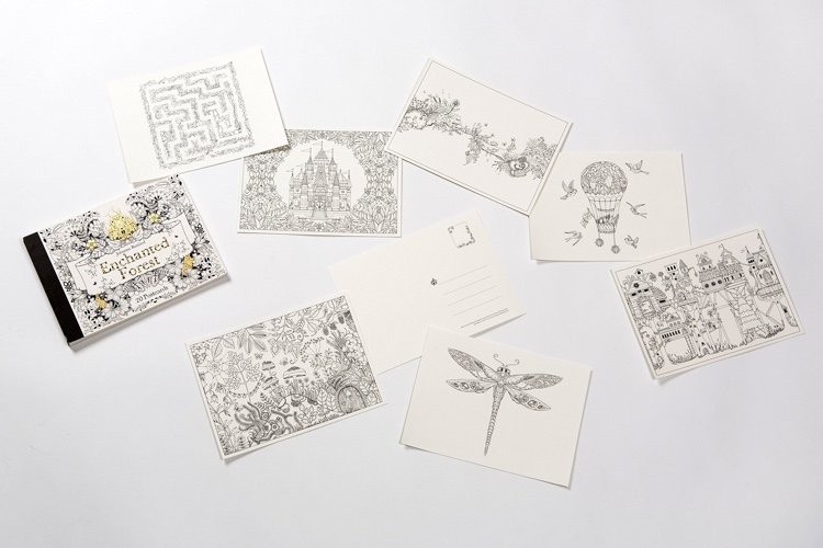 Enchanted Forest Coloring Postcards