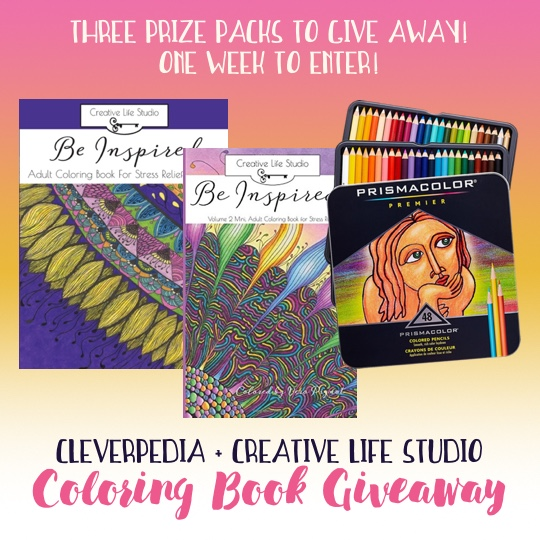 Enter the Cleverpedia + Creative Life Studio Coloring Book Giveaway today for a chance to win one of three prize packs!