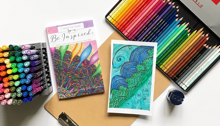 Be Inspired: Mini Adult Coloring Book for Stress Relief vol. 2