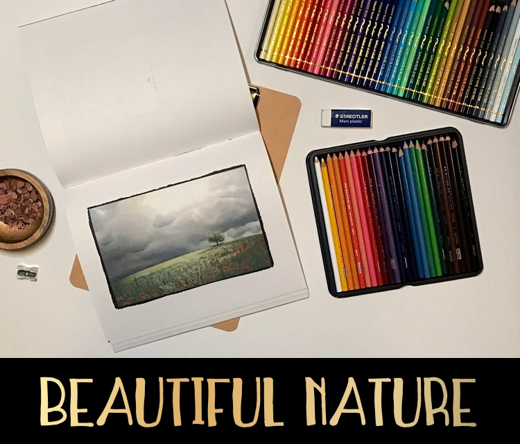 Beautiful Nature is a gorgeous grayscale adult coloring book!