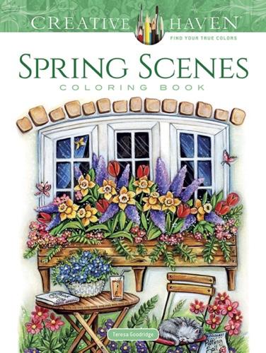 Creative Haven Spring Scenes Coloring Book