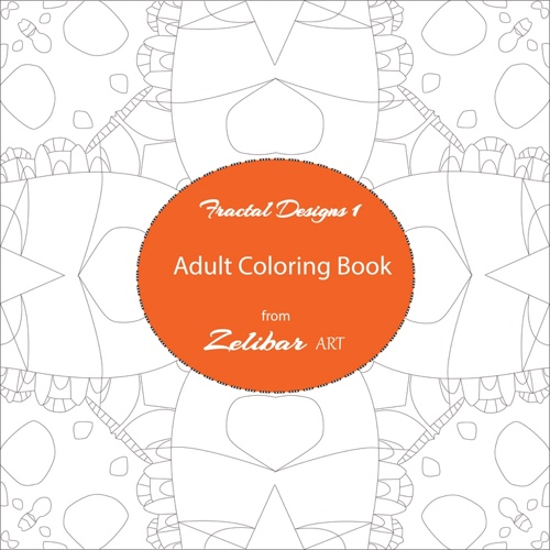 Fractal Designs 1 is a new adult coloring book by Zelibar Art. It has beautiful geometric designs and unique mandalas with pale outlines that disappear into the artwork after you color!