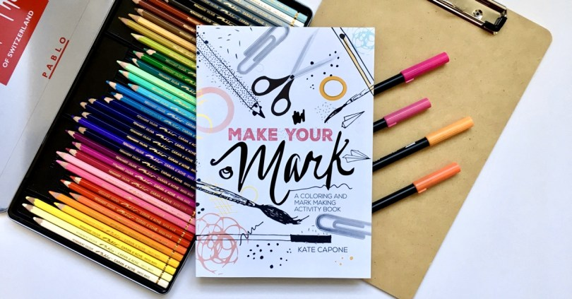 Make Your Mark is a coloring book like no other. Check out the review, print a free page, and enter to win over $220 in prizes!