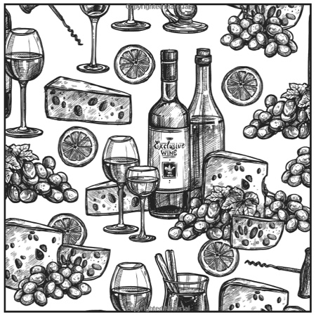 Oh Look It's Wine O'Clock Adult Coloring Book