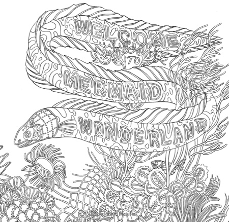 mermaids in wonderland a coloring and puzzle solving adventure for all ages