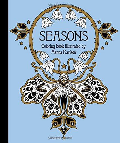 Seasons, a new coloring book by Swedish illustrator Hanna Karlzon, whose work I am obsessed with!