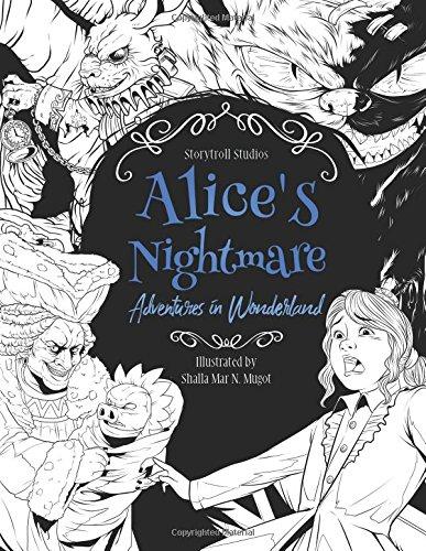 Alice's Nightmare - Adventures in Wonderland - Adult Coloring Book