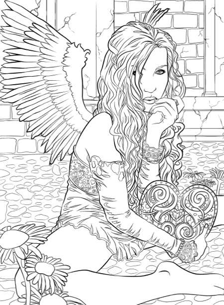 Gothic dark fantasy coloring book fantasy art coloring by selina