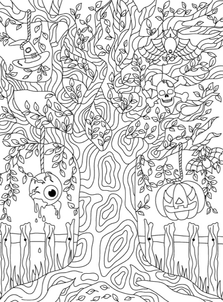 Haunted House An Adult Coloring Book With Gothic Room Designs
