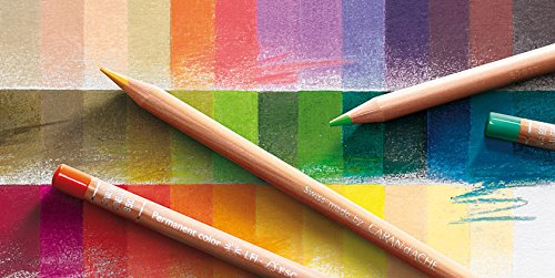 Love this beautiful rainbow of colored pencil swatches! These are Caran d'Ache Luminance Colored Pencils.