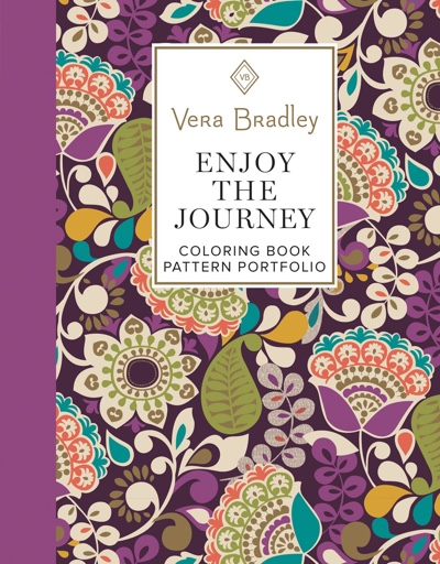 Vera Bradley Enjoy the Journey Coloring Book Pattern Portfolio