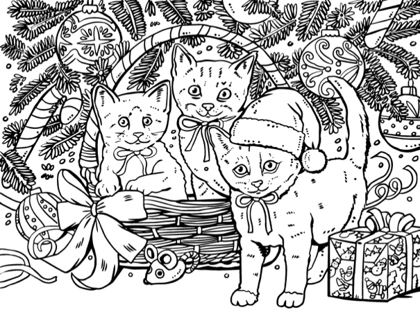 Cute Christmas Holiday Coloring Book