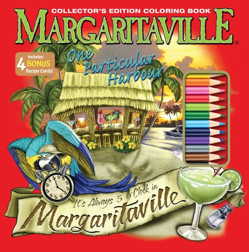 Margaritaville One Particular Harbor Adult Coloring Book Collector's Edition
