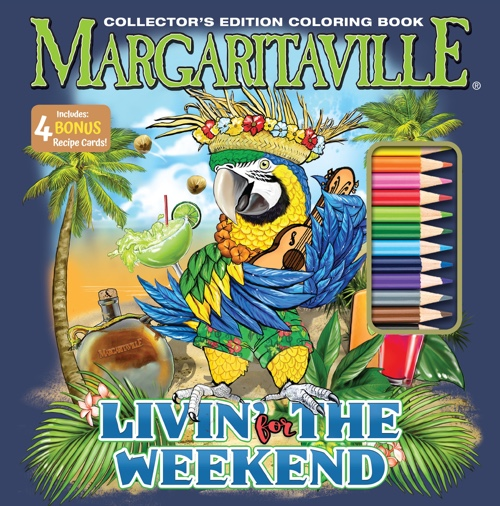 Margaritaville Livin The Weekend Adult Coloring Book Collector's Edition