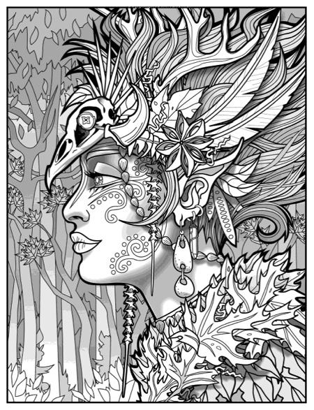 Magical Beauties Coloring Book: Book 2