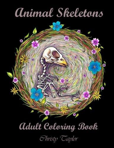 Animal Skeletons: Adult Coloring Book
