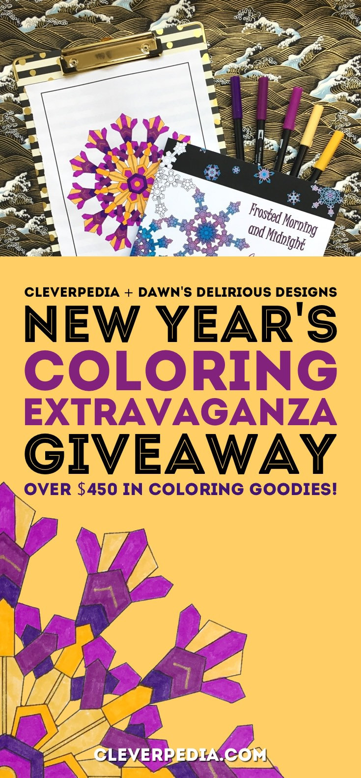 We're giving away over $450 in amazing coloring goodies, including this book and some great supplies from Prismacolor and others! There is just a limited time to enter, so enter right here!