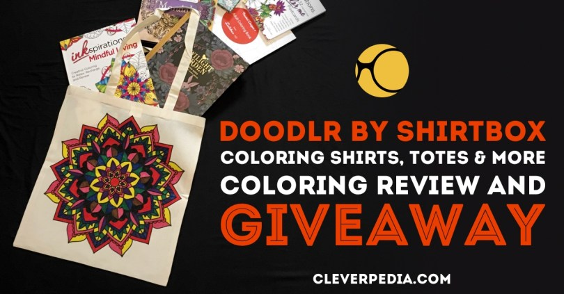 Doodlr is a line of adult coloring products by ShirtBox. These colorable clothes, aprons, tote bags, and pillow covers make awesome gifts! Read the full review on Cleverpedia and enter to win your own Doodlr products!