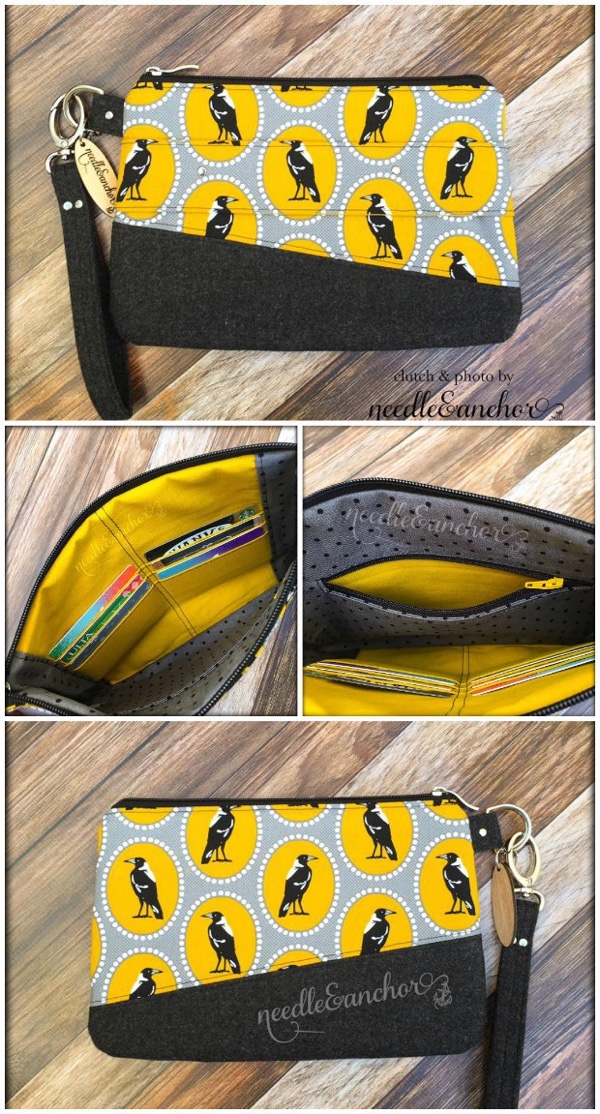 DIY asymmetrical zipper pouch