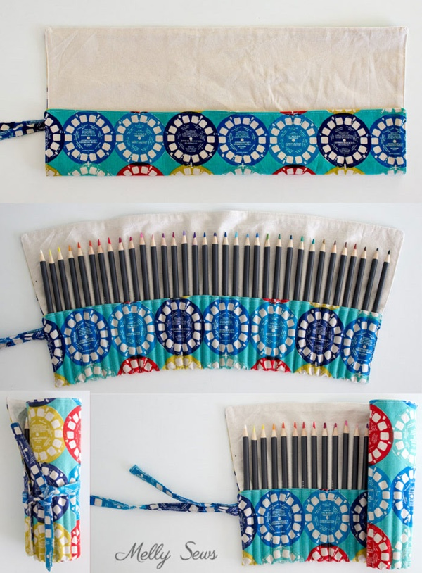 This DIY colored pencil wrap is perfect for storing all kinds of art supplies, not just colored pencils!