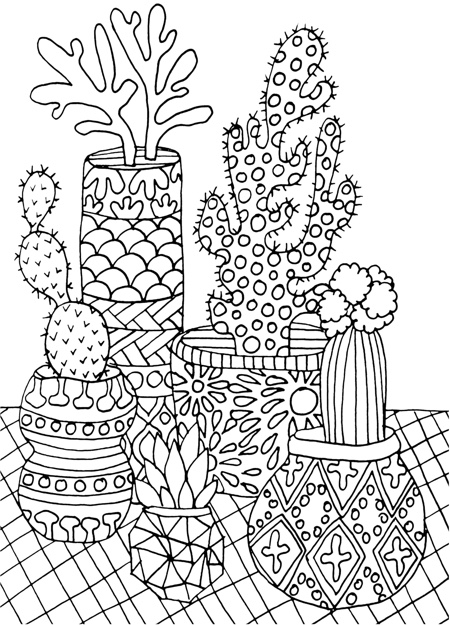 cactus images coloring pages - photo#24