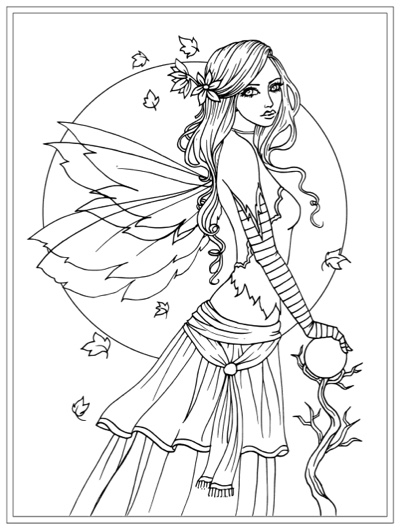 A Fairy Realm Coloring Book by Molly Harrison