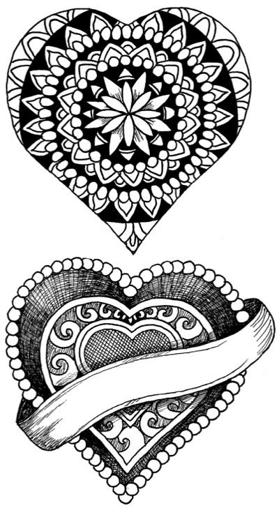 A Hundred Hearts Coloring Book by Steve Turner