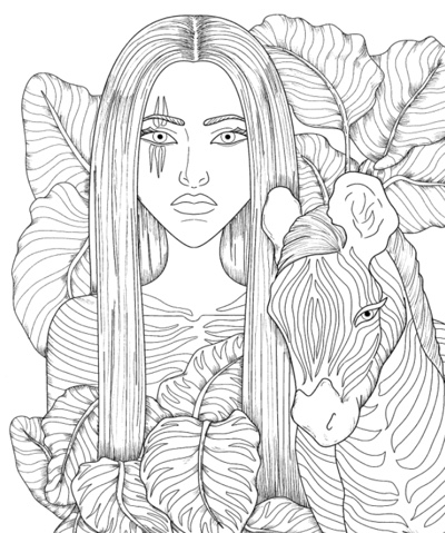 Enchanting Adult Coloring Book by Sheryll S LaFond
