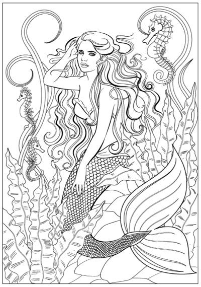Mermaid Fantasy: Adult Coloring Book by Jason Hamilton