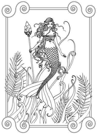 Mermaid Coloring Book by Molly Harrison