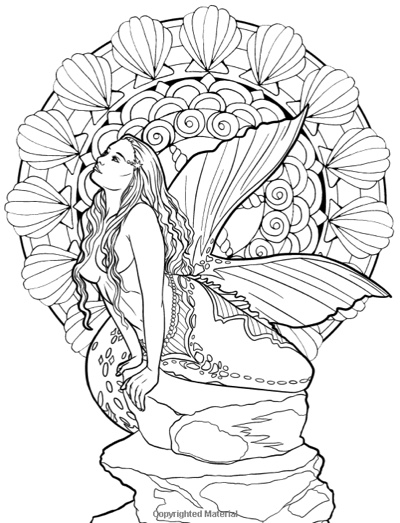 This is an image of Free Printable Fantasy Pinup Girl Coloring Pages within person