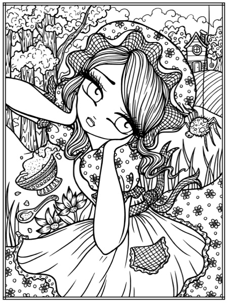 Fairy Tale Princesses Storybook Darlings Coloring Book